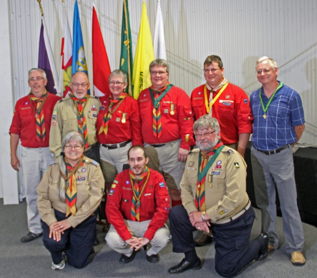 Present were (Left Back to Right Front): Scouters Brian, Bud, Teresa, Jim, Shawn, Peter, Margot, Larry, & David.
